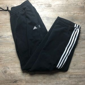 Adidas black fleece men's sweatpants